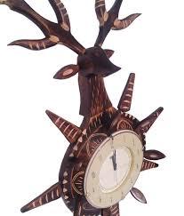 ajanta brown wooden wall clock buy ajanta brown wooden wall clock
