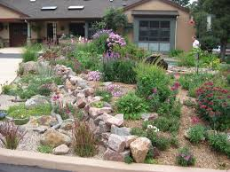 front yard creative ideas dry creek bed from down spout through
