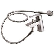 product details a4054 thermostatic two hole bath shower mixer