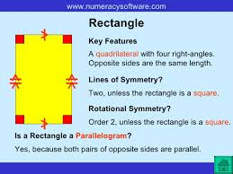 A Rectangle Is A Parallelogram With A Right Interior Angle Great Polygon Powerpoint