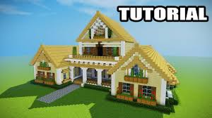 minecraft how to build a mansion tutorial epic house youtube