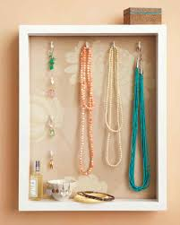 box necklace holder images Shadow box jewelry holder video martha stewart jpg