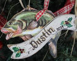 fishing ornament etsy