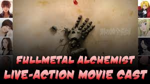 fullmetal alchemist fullmetal alchemist live action film cast youtube