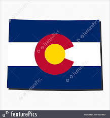 State Of Colorado Map by Illustration Of Colorado Map Flag