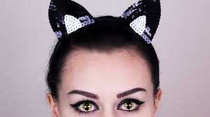 Make Up For Halloween Cat Eye Makeup Tutorial Cat Makeup For Halloween Youtube