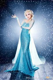 elsa wedding dress hot fashion frozen elsa portrait mermaid sequins beaded
