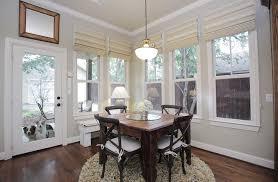 Levolor Roman Shades - levolor roman shades dining room eclectic with back door