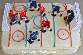 hockey cake toppers east coast simple diy hockey cakes
