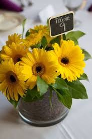 Centerpieces With Sunflowers by Rustic Yellow Florida Wedding Daisy Centerpieces Sunflowers And