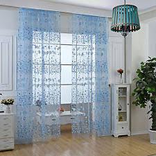 sky blue sheer curtains ebay
