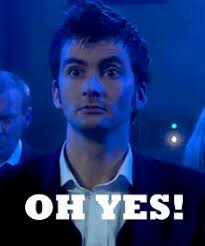 Yes Meme Gif - oh yes doctor who reaction gifs angels made from neon and