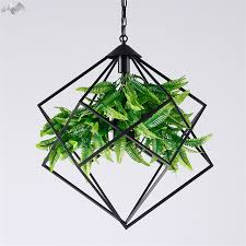 Green Pendant Lights American Modern Iron Pendant Lights Green Plant Hanging