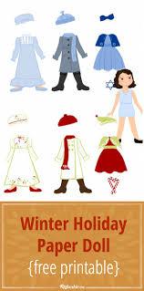 winter holiday paper doll printable free printable tip junkie