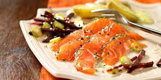 cuisine truite gravlax de truite saumonée au piment doux recette sur cuisine