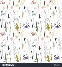 wild flowers in wild meadows vector floral pattern wild meadow flowers stock vector 575602207