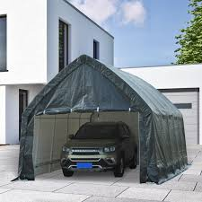 Carport Canopy Heavy Duty Aosom Outsunny 12 U0027 X 20 U0027 Heavy Duty Enclosed Vehicle Shelter