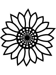 big flower coloring page free download