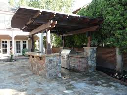 kitchen 17 outdoor kitchen roof ideas custom with image of