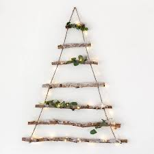 birch branch hanging christmas tree crafted from natural birch