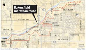 Boston Marathon Route Map by Bakersfield Marathon To Close Streets Down Sunday News