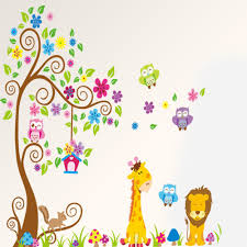compare prices on nursery tree mural online shopping buy low colorful tree qwl vinyl wall stickers removable decor decal mural nursery room decoration china