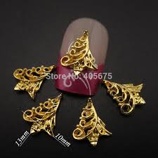 aliexpress com buy mns566 gold 3d metal nail art charms