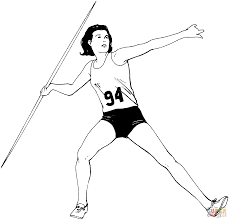 athletics coloring pages free coloring pages