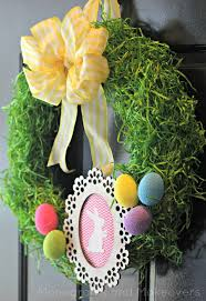 Easter Decorations To Print And Color 30 diy easter wreaths ideas for easter door decorations to make