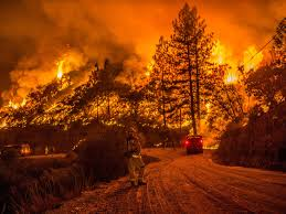 California Wildfires Ventura County by Video Shows Family Driving Through Raging California Wildfires