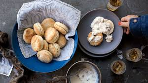 sour cream biscuits with sausage gravy recipe bon appetit