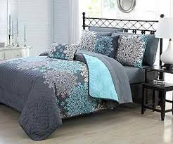 impressive allison bluegrey quilt set within grey and blue