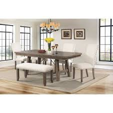 Bench Kitchen Dining Room Sets Youll Love Wayfair  Big Small - Dining room table with benches