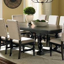 rectangular pedestal dining table for your dining room image of black rectangular pedestal dining table