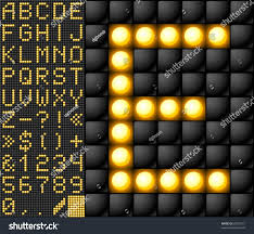 scoreboard lamp alphabet stock vector 60075121 shutterstock