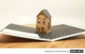 pop up house 5 e architect pop up house card tutorial hero arts