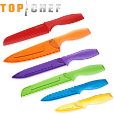Basic Kitchen Knives Top Chef 6 Piece Colored Knife Set Professional Grade Walmart Com