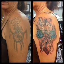 wolf cover up ideas covering