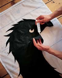 halloween panel fabric spooky bird silhouettes martha stewart