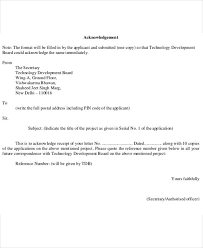 5 business acknowledgement letter templates 5 free word pdf