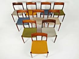 Woven Dining Room Chairs Niels Otto Moller Rosewood Dining Chairs In Original Woven
