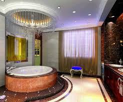 Luxurious Bathroom Royal Master Bathroom Design With Luxury Chandelier Orchidlagoon Com