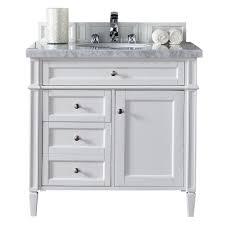 stufurhome rochester 36 in white single sink bathroom vanity with