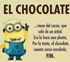 Funny Memes Spanish - el chocolate es ensalada spanish learning pinterest memes