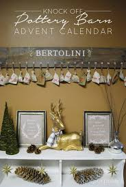 Pottery Barn Calendar Knock Off Pottery Barn Advent Calendar Brepurposed