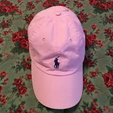 light pink polo baseball cap ralph lauren accessories light pink ralph lauren polo hat poshmark