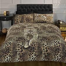 Leopard Print Duvet Prowling Leopard Duvet Cover Animal Print Quilt Set Gold Single