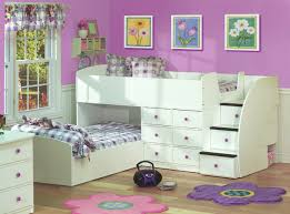 bedroom white contemporary stained solid wood kids bunk bed