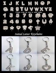 initial letter keychains crystal initial letter jewelries diy