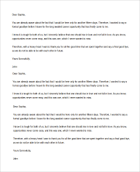 sample goodbye letter 8 examples in word pdf